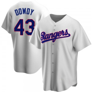 Kyle Dowdy Texas Rangers Replica Home Cooperstown Collection Jersey - White